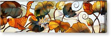 Koi Canvas Print by Lisa L Silva
