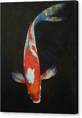 Coy Canvas Print - Koi by Michael Creese