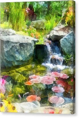 Gardens Canvas Print - Koi Pond by Susan Savad