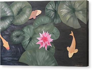 Koi Canvas Print by Tim Townsend