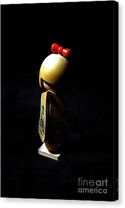 Canvas Print featuring the photograph Kokeshi by Lawrence Burry