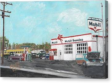 Koki's Garage Canvas Print by Cliff Wilson