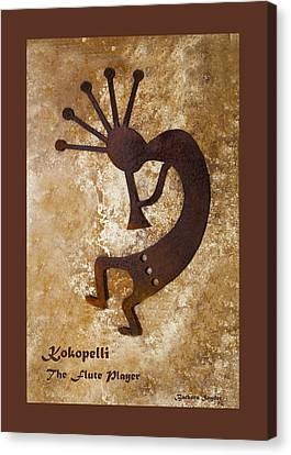 Kokopelli The Flute Player Duvet Canvas Print by Barbara Snyder