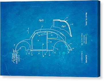 Beetle Canvas Print - Komenda Vw Beetle Body Design Patent Art 2 1944 Blueprint by Ian Monk