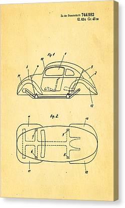 Komenda Vw Beetle Official German Design Patent Art Canvas Print by Ian Monk