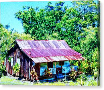 Kona Coffee Shack Canvas Print by Dominic Piperata