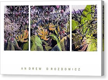 Canvas Print featuring the painting Kona Garden by Andrew Drozdowicz
