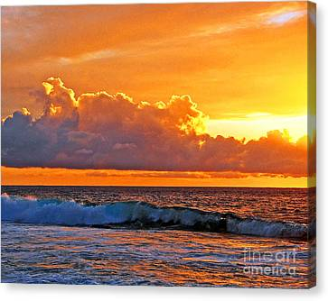Kona Golden Sunset Canvas Print