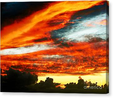 Canvas Print featuring the photograph Kona Sunset 77 Lava In The Sky  by David Lawson