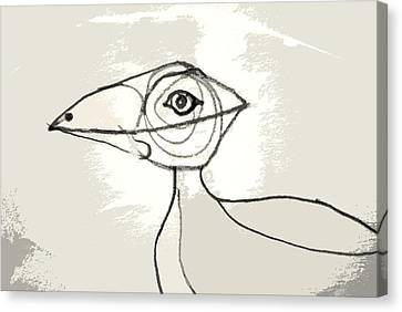Koo-koo Bird Canvas Print by Kjirsten Collier