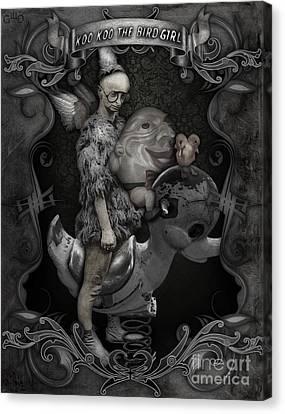 Koo Koo The Bird Girl Canvas Print by Gregory Dyer