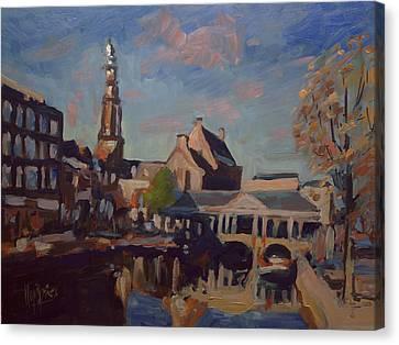 Koorn Bridge Leiden Canvas Print by Nop Briex