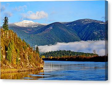 Kootenai River Beauty Canvas Print by Annie Pflueger