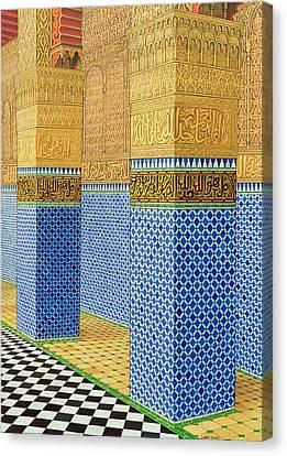Koranic School, Fez, 1998 Acrylic On Linen Canvas Print by Larry Smart