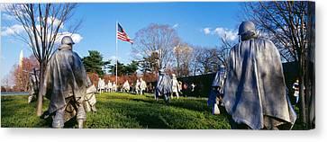 Korean Veterans Memorial Washington Dc Canvas Print by Panoramic Images