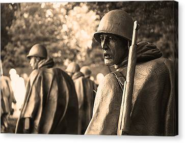 Korean War Soldier Canvas Print by Nicola Nobile