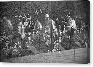 Canvas Print featuring the photograph Korean War Veterans Memorial by Jemmy Archer
