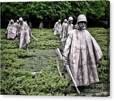 Korean War Veterans Memorial Canvas Print by Olivier Le Queinec
