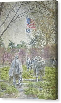 Korean War Veterans Memorial Washington Dc Beautiful Unique   Canvas Print by David Zanzinger