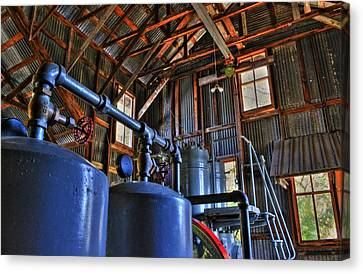 Koreshan State Park Machine Canvas Print by Timothy Lowry
