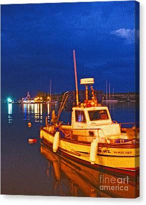 Kos Fisherman Boat Canvas Print by Nur Roy