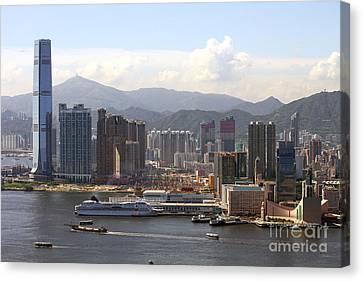 Kowloon In Hong Kong Canvas Print by Lars Ruecker