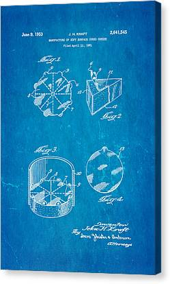 Kraft Cheese Triangle Patent Art 1951 Blueprint Canvas Print by Ian Monk