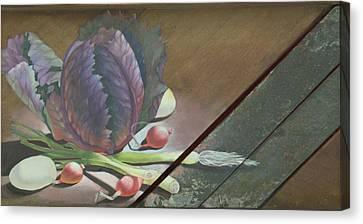 Kraut Cutter Canvas Print