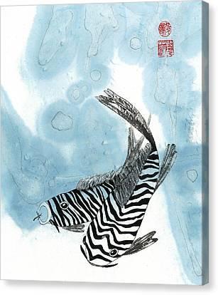 Krazy Koi Canvas Print