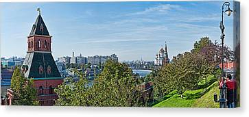Kremlin Wall With Skyline And Cathedral Canvas Print