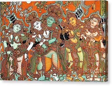 Krishna And Radha Kalyanam Canvas Print by Pg Reproductions