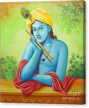 Krishna Canvas Print by Anupam Duggal
