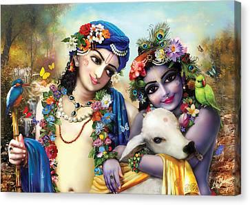 krishna-Balarama Canvas Print
