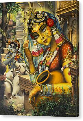Krishna Is Here Canvas Print by Vrindavan Das