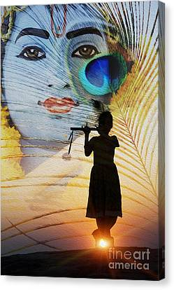 Mysterious Sunset Canvas Print - Krishna Jai by Tim Gainey