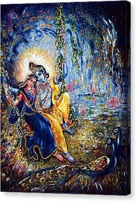 Krishna Leela Canvas Print