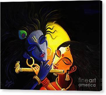 Krishna Canvas Print by Linkin Art