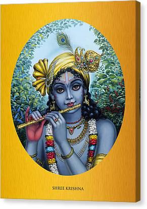 Vishnu Canvas Print - Krishna by Vrindavan Das