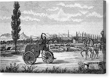 Kroener's Driving Machine, 1840s Canvas Print by Bildagentur-online