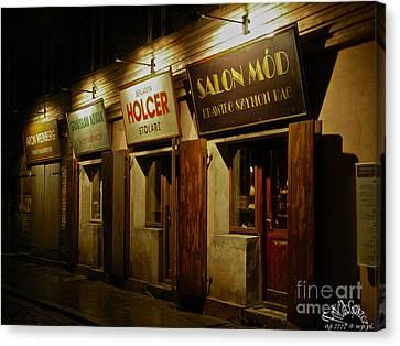 Kroke - Kazimierz - Krakow - Gesher Galicia - Shalom. .the Jewish Life In Krakow. Viewed 224 Times  Canvas Print by  Andrzej Goszcz