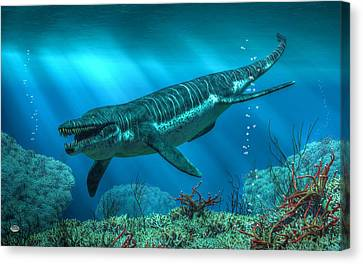 Kronosaurus Canvas Print by Daniel Eskridge
