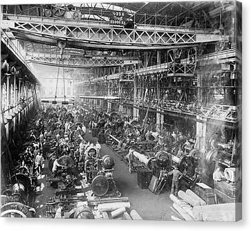 Krupp Gun Factory Canvas Print by Library Of Congress