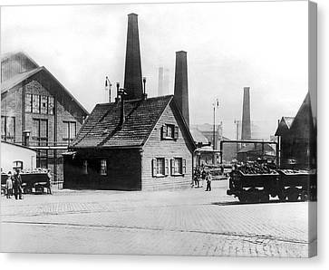 Krupp Works Founded Here Canvas Print