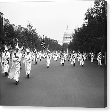 Ku Klux Klan Parade Canvas Print by Library of Congress