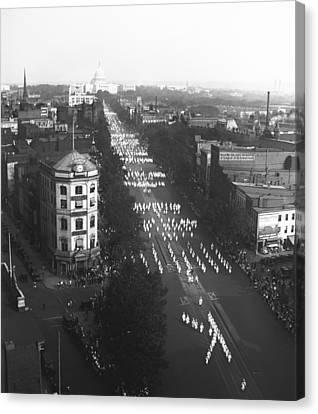 Capitol Building Canvas Print - Ku Klux Klan Parade by Underwood Archives