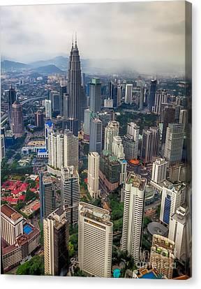 Kuala Lumpur City Canvas Print by Adrian Evans