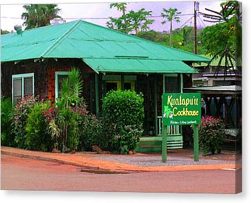 Kualapuu Cookhouse Canvas Print by James Temple