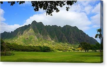 Kualoa Park Hawaii Canvas Print by Kevin Smith