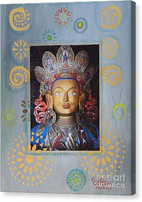 Kuan Yin - God Of Compassion Canvas Print by To-Tam Gerwe