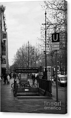 Kufurstendamm U-bahn Station Entrance Berlin Germany Canvas Print by Joe Fox